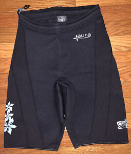 Body Glove Wetsuit Womens Large Aura Black Shorts Water Sports Thick EUC!