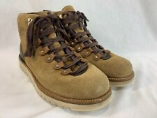 Cole Haan Grand Explore Boots Mens 9 Brown Beige Suede Leather Lace Up