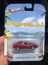 2013 Hot Wheels Retro Entertainment -MAGNUM, P.I. PI Red FERRARI 308 GTS QV