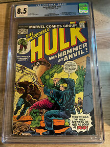 the incredible hulk 182 cgc 8.5 With WHITE Pages 3rd Wolverine