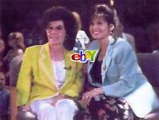 "Annette Funicello and Marie Osmond at doll show - 4 original 4x6"" photos - 1995"