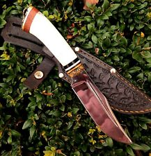 Hunting knife Survival Tactical Combat fixed blade leather sheath  # 15 Horn