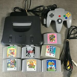 Region Free Nintendo 64 Console with game  NUS-001 N64 tested