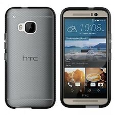 Genuine TECH 21 EVO cheque impacto Shield Shell Funda para HTC ONE M9-Negro