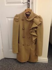 LADIES 'FRENCH CONNECTION' CAMEL CASHMERE COAT. SIZE 8. GOOD CONDITION. RRP £190