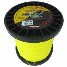 GSR PEfiber Braid Fishing Line 80lb 1000m High Vis Yellow 100% UHMWPE Dyneesi