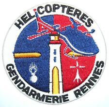 ecusson FRANCE POLICE HELICOPTERES RENNES  police patch