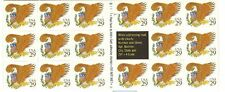 USA SC# 2597a EAGLE RED USA 29c.BOOKLET OF 17 S.A. STAMPS-PL# S1111 MNH