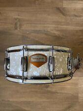 """Custom built snare drum 14""""x5.5"""" WMP over Steel"""