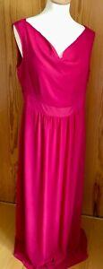 Orsay Maxi Abendkleid, Pink, Gr. 42, Wasserfallausschnitt, A-Linie, Neu