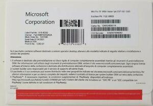 Licenza Windows 10 Pro Professional 64Bit DVD Product Key Full completa Italiano