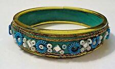 Bangle Bracelet Vintage Artisan Beaded