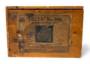 Delta Rockwell Set of 22 Shaper Cutters w/Box Cat. No. 980