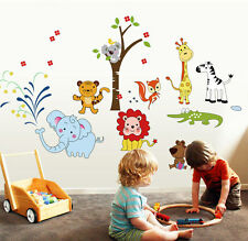 Kids Nursery Wall Art Sticker Jungle Safari Animals Decals Bedroom Home Decor