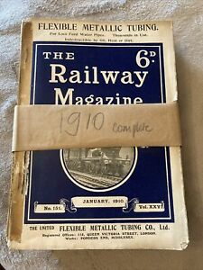 The Railway Magazine 1910 full set of 12 copies for the year 1910 - RARE