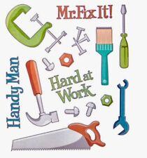 Handyman Mr. Fix It Phrase Scrapbook Stickers