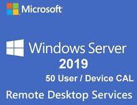 Remote Desktop Services - Server 2019 Standard / Datacenter - 50 User RDS CALs