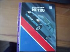 AUSTIN METRO MK1 BROCHURE No.3466A   12 DOUBLE FOLD OUT PAGE REF 3