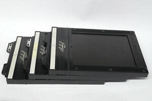 3x Linhof Doppel Planfilm Kassetten 9x12 / Film Holder