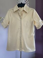 United Colors Of Benetton Women Dress Button Shirt Top, Ivory Beige,Cotton Small