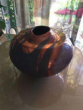 Tony Evans Large Raku Vase Signed And Numbered. Vintage