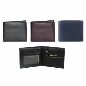 NEW PIERRE CARDIN MENS BI-FOLD RFID PROTECTED WALLET  Italian Leather 3 COLOURS