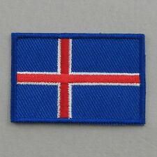 Iceland Flag Small Iron On/ Sew On Cloth Patch Badge Appliqué Ísland Icelandic