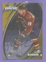 Shawn McEachern GOLD 2002-03 BAP Be A Player Autograph Signed #79 Hurricanes