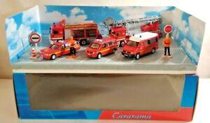 CARARAMA 1:72 DIECAST FIRE & RESCUE SERVICE 10-PIECE SET - 008301 - BOXED