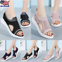 Womens Casual Open Toe Sandals Summer Breathable Platform Comfy Sandals Shoes US