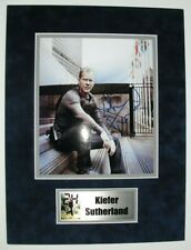 24 tv series photo signed by KIEFER SUTHERLAND, with COA, matted w/name plate