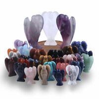 Reiki Energy Opalite Crystal Healing Gemstone Small 3.8cm Angel Wrapped Gift*