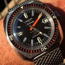 RARE Chronometer Dial VINTAGE Longines 7970-3 Ultra Chron Diver High Beat Watch