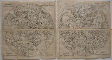 Himmelskarte Nördlicher Südlicher Sternenhimmel 4 Orig Kupferstiche 1739 Pluche