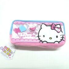 Hello Kitty Cute Pink Soft Fleece Pouch Pencil Case Pen Zipper Bag # 1