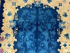 ART DECO CHINESE WOOL WOVEN BUTTERFLY RUG