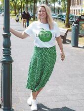 Neues AngebotBnwt H&M Green Floral Floaty Midi Skirt Uk 12 40