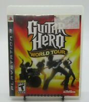 GUITAR HERO: WORLD TOUR GAME FOR PLAYSTATION 3 PS3, GAME DISC, CASE, MANUAL
