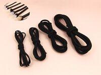 5M x BLACK Round ELASTIC Stretch CORD Jewelry Sewing Trim DIY 0.8/ 1/  2/  2.5mm