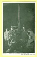 CR) New Military Real Photo 37 mm Anti Aircraft Gun in Action Post Card Antique