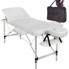 Lettino massaggio pieghevole alluminio massaggi estetica 3 zone portatile bianco