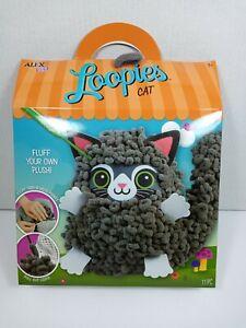 Alex Loopies Yarn and Plush Cat Kids DIY Craft Kit