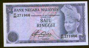 Malaysia 1 Ringgit (1967-72) Pick 13b aUNC