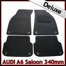 Audi A6 Saloon C6 2004-2011 340mm Tailored LUXURY 1300g Carpet Car Mats BLACK