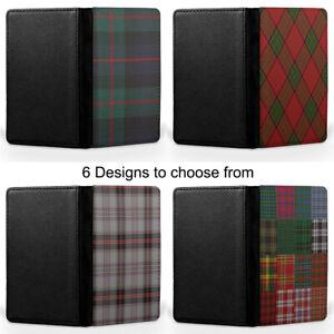 Tartan Colours Scotland Scottish Passport Holder Faux Leather Cover Case