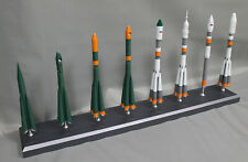 """1:144 SCALE MODEL OF RUSSIAN R7 ROCKET FAMILY, MADE OF METAL (14"""" TALL)"""