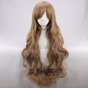"""Bee and PuppyCat 32"""" long brown Synthetic Hair Anime Cosplay Wig +a wig cap"""