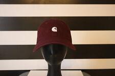 Carhartt Burgundy Baseball Cap StrapBack 100% Cotton One Size