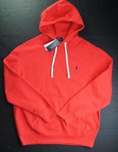 POLO RALPH LAUREN Men's Red Classic Cotton-Blend Fleece Pullover Hoodie