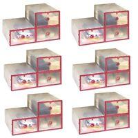 18x Kunststoffbox Stapelbox | Aufbewahrungsbox Schuhaufbewahrung Transparent